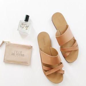 J.Crew Bali Slide Leather Sandals